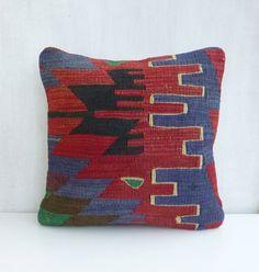Decorative Bohemian Kilim Throw Pillow
