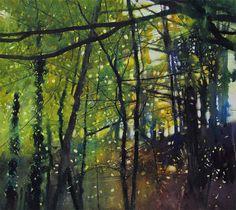 Very green for November | Watercolour | 400mm x 420mm | 17/02/2013 David Parfitt