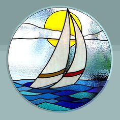 The Leadlight Workshop provides Australia's best online range of stained glass, leadlight, and glass craft supplies. Our gallery showcases a selection of work that we hope will inspire you to create your own beautiful glass art. Stained Glass Suncatchers, Stained Glass Crafts, Stained Glass Designs, Stained Glass Panels, Stained Glass Patterns, Mosaic Patterns, Glass Boat, Deco Marine, Glass Art Pictures