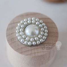 Round pearl embellishment. Pearl cluster decoration for making your own wedding invitations. DIY wedding stationery supplier
