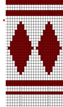 Jussipaidan kuvio Bead Loom Patterns, Mosaic Patterns, Cross Stitch Patterns, Knitting Patterns, Crochet Patterns, Knitting Charts, Knitting Stitches, Knitting Socks, Crochet Chart