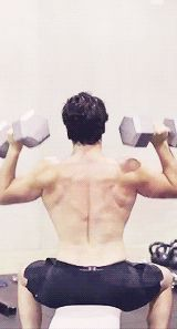 Henry Cavill. Lifting weights. Shirtless. - Imgur