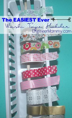 The EASIEST Washi Tape Dispenser and Organizer