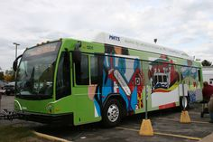 MATS got a new compressed natural gas (CNG) bus in September of 2012. They held a contest for students in the system's service area to depict their communities, and six winners got their art on a bus wrap that Revel created.     Great job to all students who participated!