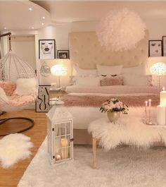 75 Young Girl Bedroom Designs - Inspiration and Ideas for Your Dream Bedroom - dougryanhomes Teen Bedroom Designs, Room Ideas Bedroom, Small Room Bedroom, Master Bedroom, Dream Bedroom, Bedroom Decor Teen, Small Girls Bedrooms, Teen Bedroom Furniture, Fancy Bedroom