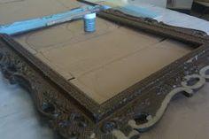 Repurpose an old frame - DIY bulletin board