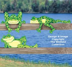 Lazy Frogs Rail Pets Pattern These five frogs must be pooped! Makes a cute display atop of fences, shelving or moulding. Wood Yard Art, Wood Art, Wooden Projects, Wooden Crafts, Wood Craft Patterns, Wood Animal, Scroll Saw Patterns, Wood Creations, Wood Toys