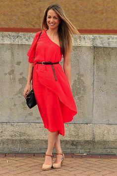 Gorgeous flowy red dress