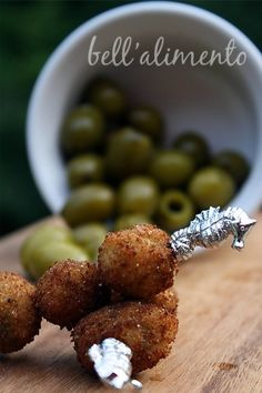 Fried Olives With Cheese And Herbs - yummy!