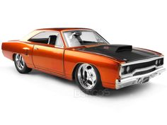 """""""Fast & Furious"""" Dom's Plymouth Road Runner 1:24 Scale - Jada Diecast Model (Orange) #fastandfurious #fastandfurious_7_ #fastandfuriousmovie #furiousmovies #Fast_eight #fast8_offical #nissan #nissanr34 #nissanr35 #toyotasupra #briansnissan #brianssupra #brianseclipse #paulwalker #domscharger #domsroadrunner #vindiesel #diecast #118scale #124scalemodelcars"""