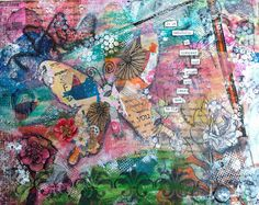 Butterfly. Mixed media canvas art.