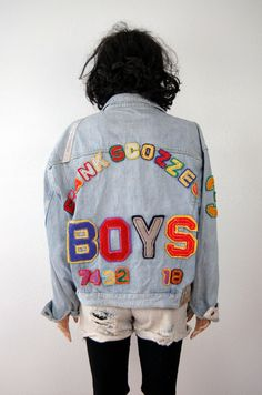 Frank Scozzese Denim Jacket 80s POP ART Vintage by poetryforjane, $425.00