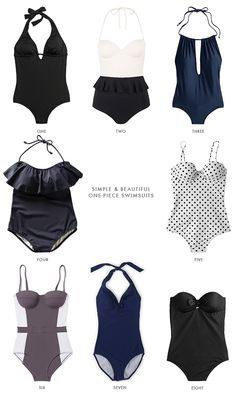 caitlin cawley: simple & beautiful one-piece swimsuits