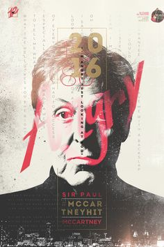 """Poster campaign supporting an initiative by Brazil radio station Kiss FM designed to get Paul McCartney's lesser-known 1986 song """"Angry"""" to the top of the Type Posters, Graphic Design Posters, Graphic Design Inspiration, Poster Layout, Layout Design, Print Design, Logo Design, Design Editorial, Plakat Design"""