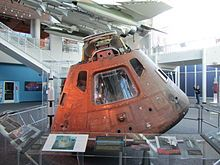 Apollo 12 Command Module Yankee Clipper on display at the Virginia Air and Space Center in Hampton,Virginia