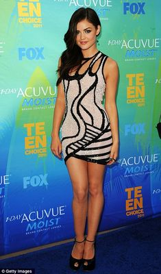 Teen Choice Awards: Lucy Hale makes a fashion statement with heel-less shoes | Mail Online