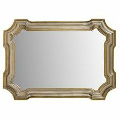 """Add a classic focal point to your entryway with this timeless wall mirror or display it in your master suite for stately style. Showcasing a beveled frame with a gold and silver leaf finish, this lovely design adds a touch of elegance to any room.  Product: Wall mirrorConstruction Material: Wood and mirrored glassColor: Gold and silver leaf frameFeatures: Beveled frameDimensions: 31"""" H x 43"""" W"""