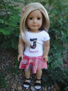 No Sew Circle Skirt for American Girl Dolls | Sew Adollable