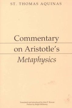 Precision Series Commentary on Aristotle's Metaphysics