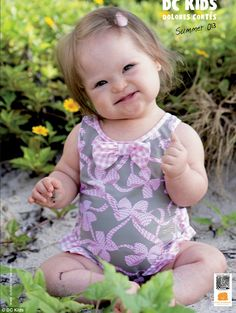 Makes me smile!!! Valentina Guerrero, a ten month old baby with Down Syndrome is the cover star of Dolores Corte's swimwear collection. What a beautiful little girl she is!!!!