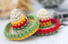Crochet Sombrero Keychain