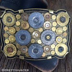 'Hunter Hardware Texas' Biggest Bodacious Bullet Buckle on Antique Gol – Prettyhunter.com