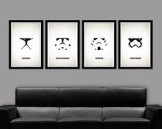 Clone Trooper Inspired Minimalist Movie Poster Set Set 223 13 X 19 Home Decor