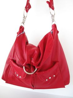 red recycled leather!