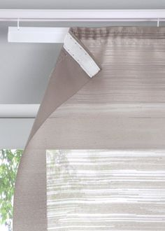 """Schiebegardine """"Danzig"""" (1er-Pack) taupe - Wohnen - bpc living - bonprix.de Types Of Curtains, Diy Curtains, Panel Curtains, Window Screens, Window Coverings, Curtain Tie Backs Diy, French Door Curtains, Diy Blinds, Curtain Designs"""