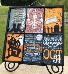 Halloween Holiday Home Decor Interchangeable by BecraftyStamps, $18.00 #handmade #etsy #becraftystamps #printerstray