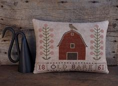 Old Barn...Primitive Cross Stitch Pattern By The Humble Stitcher