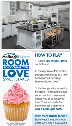 Pin for your chance to win a $500 gift card in the Meritage Homes Room Love #Sweepstakes! #MeritageRoomLove