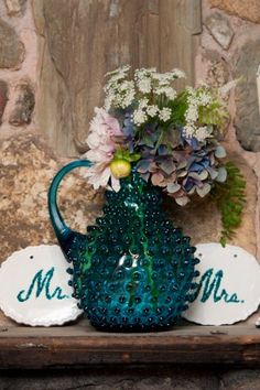 Blue-Glass-Pitcher-arrangement