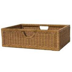 #9: Wicker Night Stand Basket (Honey) (22.75H x 15.5W x 7D)
