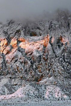 Desert Snow, Red Rock Canyon, Nevada; photo by Peter Lik...just a short drive out of Vegas - it snows less than every 7 years
