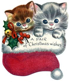 A Pair of Christmas Kittens