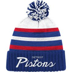 5bfbbaf68b9 Mitchell   Ness Men s Detroit Pistons Cuffed Knit Hat