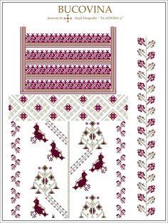 (1) Gallery.ru / Фото #33 - Буковина - румынские схемы - bdancer Cross Stitch Borders, Cross Stitch Designs, Cross Stitch Patterns, Embroidery Motifs, Embroidery Designs, Beading Patterns, Weaving, Handmade, Floral