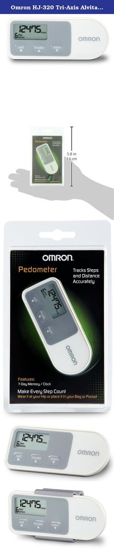 Omron HJ-320 Tri-Axis Alvita Pedometer. The Omron Alvita Pedometer with Two Tracking Modes (HJ-320) may just be the motivation you need to take those extra steps toward better health and increased energy. Inside is Omron's validated Tri-Axis technology which makes this tracker accurate no matter what position it's in. With the Alvita Pedometer, you'll know precisely how far you've progressed, pushing you to do better day after day.
