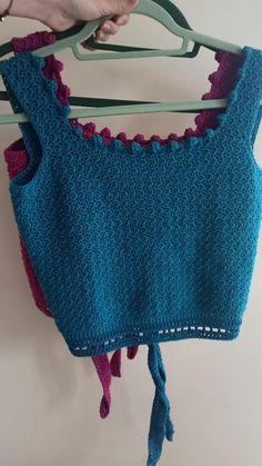 Diy Crochet Top, Crochet Bra, Crochet Summer Tops, Crochet Halter Tops, Crochet Wool, Crochet Bikini Pattern, Crochet Bikini Top, Crochet Hair Accessories, Crochet Doll Clothes