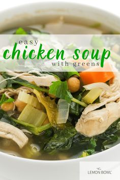 Loaded with fresh veggies and plenty of lean protein, this is the perfect meal-in-a-bowl chicken soup that will warm the belly and soul. Best Chicken Recipes, Healthy Soup Recipes, Healthy Chicken, Turkey Recipes, Slow Cooker Chicken Curry, Slow Cooker Soup, Chicken And Cabbage, Chicken Soup, Lebanese Lentil Soup