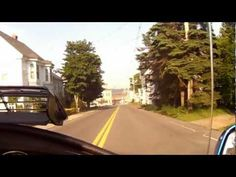 Riding my Goldwing into Eastport, Maine the farthest east you can go in the US.