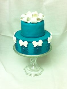 Sugar Heaven - mini teal cake
