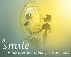 A smile is the prettiest thing you can wear.  Zitate Lächeln Leben Glücklich Sein Life Hapiness happy Sprüche von Wonnewerk , www.wonnewerk.de