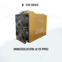 Innosilicon A10 PRO ETH Miner with 6GB memory has a maximum hashrate of 720 MH/S on the Ethash algorithm with a power consumption of 1300W. Asic Bitcoin Miner