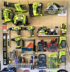 My small collection of Ryobi tools.