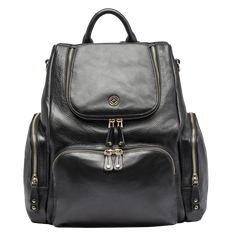 You will love this amazing black leather backpack and these black bags are ideal if you are an office going woman or even if you go to school these bags are perfect for you. Baby Changing Bags, Trolley Bags, Stylish Backpacks, Black Leather Backpack, Studded Leather, Chanel Handbags, Fashion Backpack, Purses, Amber
