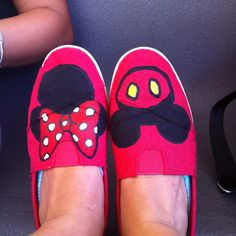 Mickey and Minnie mouse shoes!
