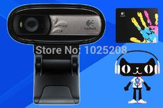[Visit to Buy] Logitech Webcam with Microphone, USB Web Cam Camera Logitech, The 100, Usb, Men Hats, Free Shipping, Personalized Items, Alibaba Group, Belts, Watches