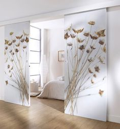 Springy Motif Ideas for a Cheerful Interior Decoration - Futura Home Decorating Room Partition Designs, Wardrobe Design Bedroom, Main Door Design, Interior Decorating, Interior Design, Decorating Ideas, Home Decor Bedroom, Furniture Design, Plywood Furniture